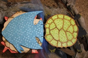Turtle with Graphic45 Travelogue and Art Glitter