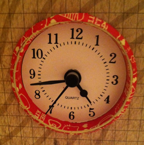 Clock Face with Hello Kitty Pattern Tape