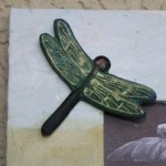 Dragonfly casted in paperclay