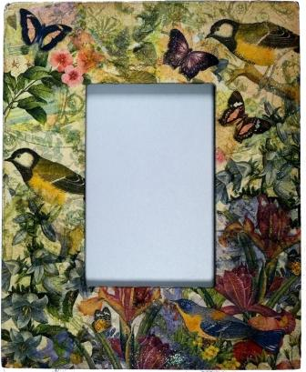 Botanical Collaged Frame