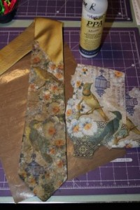Collaging A Man's Tie with PPA