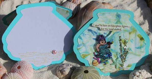 Glitter Mermaid Card (Front and Inside)