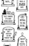 Epitaphs Clear Stamp Set