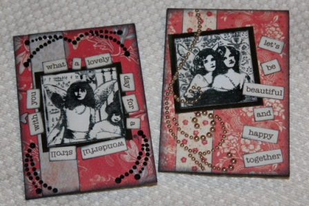 Want2Scrap and Authentique ATCs by Joe Morgan
