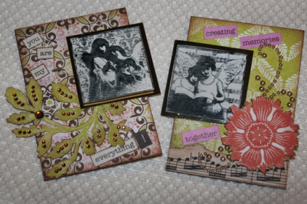 Want2Scrap and Authentique ATCs by Joe Rotella