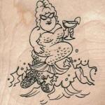 Mermaid With Drink Viva Las Vegastamps! SKU 14565