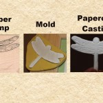 Molding a Rubber Stamp, Casting with Paperclay, Finished Casting