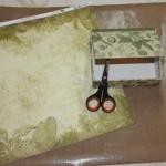 Step 1 - The original box and Bo Bunny paper