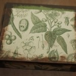 Step 2 - The original box with the edges painted