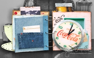 Retro 1950's Cookbook Spread 5 - Coca Cola Clock