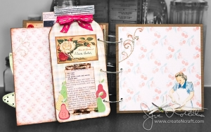 Retro 1950's Cookbook Spread 8 - Chipboard