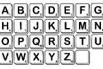 Scrabble Alphabet (#1948) from Viva Las Vegastamps!