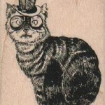 Steampunk Cat 2 x 2 1-2  #17720
