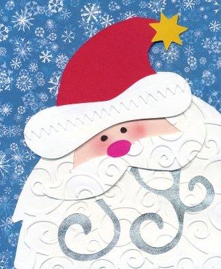 Santa paper piecing