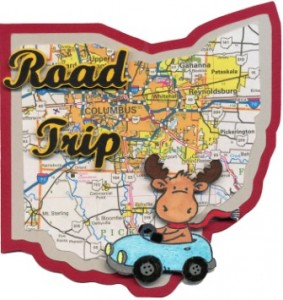 Road Trip - Ohio card featuring Riley The Moos