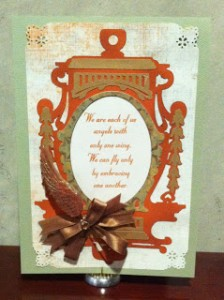 Angel Wings Finished Card