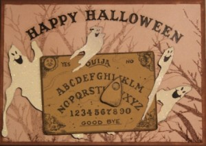 "Ouija Board Finished Card (5"" x 7"")"