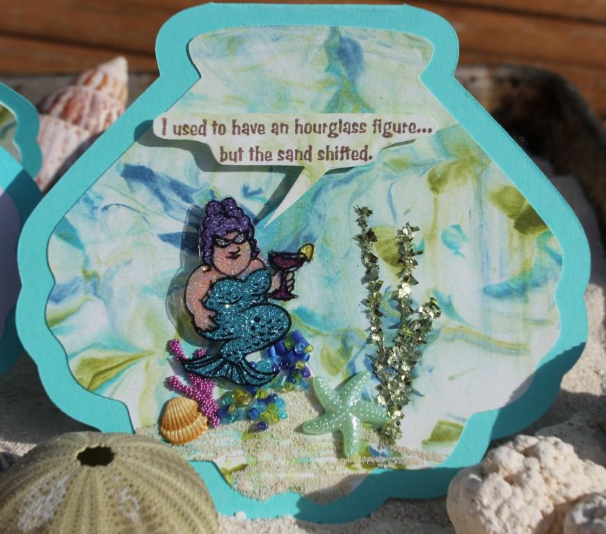 Glitter Mermaid Card (Front)