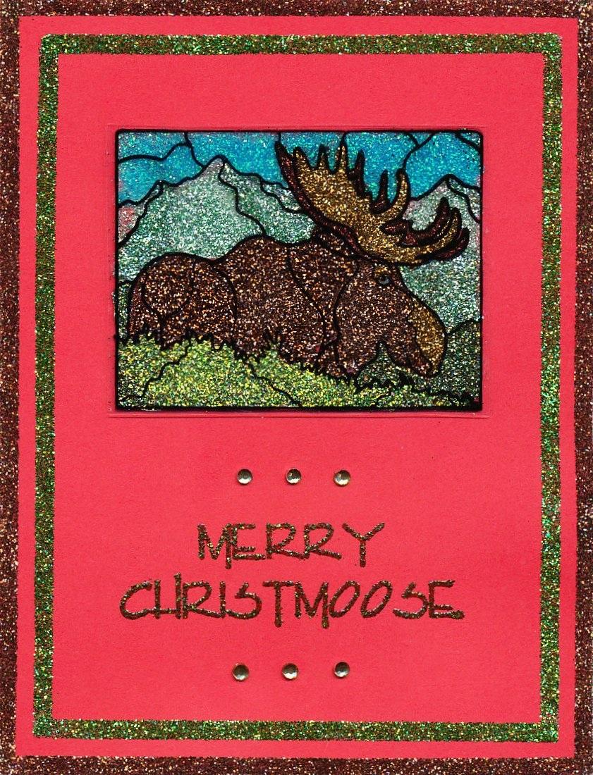 Merry Christmoose Glitter Card by Joe Morgan