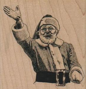 Waiving Santa Stamp #4820 from Viva Las Vegastamps!