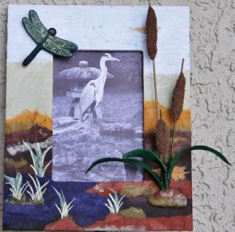Collaged Frame with 3D Embellishments