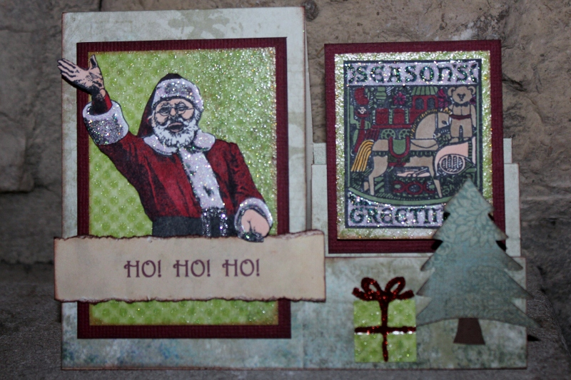 Seasons Greetings Side Step Card