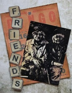 Old Friends Card by Joe Rotella using Viva Las Vegastamps! stamps