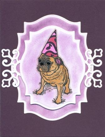 pug birthday card  createncraft, Birthday card