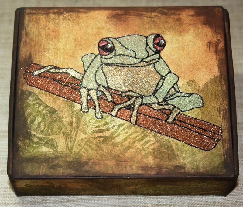 Red-Eyed Tree Frog Box using Mica D'Lights from USArtQuest (Detailed View)