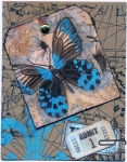 Butterfly Tag Napkin Collage Card