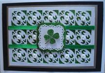 Green Glitter Card