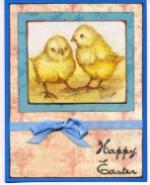 Chicks Napkin Collage Card