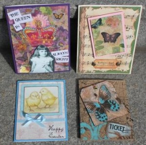 Napkin Collage Cards