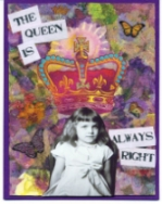 Queen Napkin Collage Card