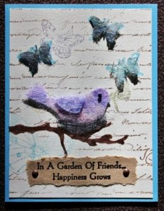Bird & Butterfly Card made with USArtQuest Dicrofibers