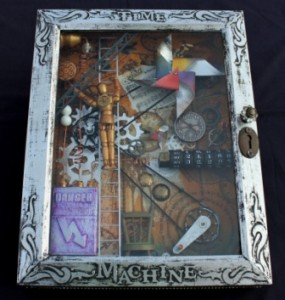 Time Machine - Steampunk Style Shadowbox