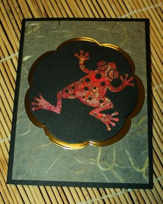 Red Gilded Frog Card