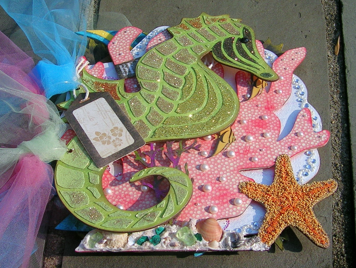 Sea Horse from Joe Rotella's Ocean Album at Want2Scrap