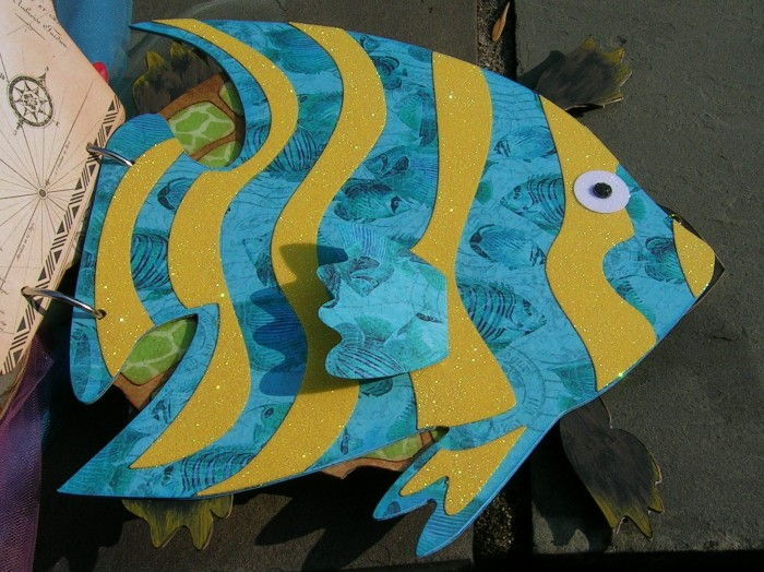 Closeup of Angel Fish from Joe Rotella's Ocean Album at Want2Scrap
