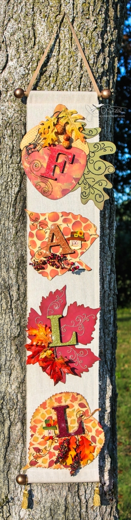 Fall Banner with Gilded Letters
