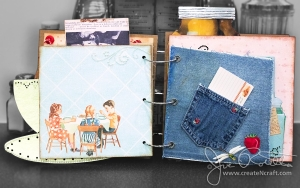Retro 1950's Cookbook Spread 4 - Blue Jeans Denim Pocket