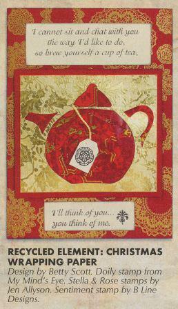 Tea Time Iris Fold