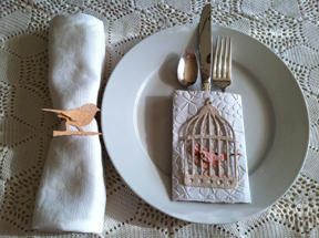 Place Setting made with Handmade Paper