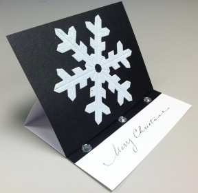 Easel Snowflake Card