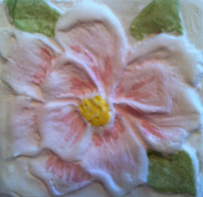 Close up of Magnolia paper cast