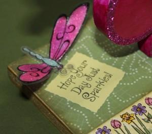 Close Up of Trudy Sjolander's Sentiment Stamp