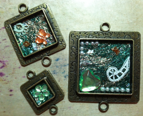 Square Bezels Ready for Resin