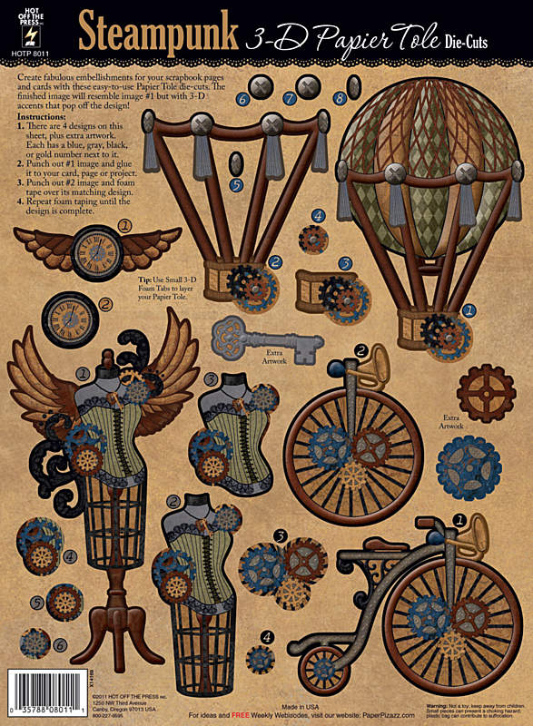 Steampunk Paper Tole from PaperWishes.com