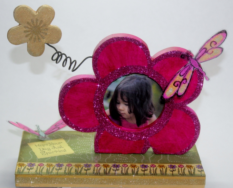 Photo Frame made with Trudy Sjolander Papers and Stamps