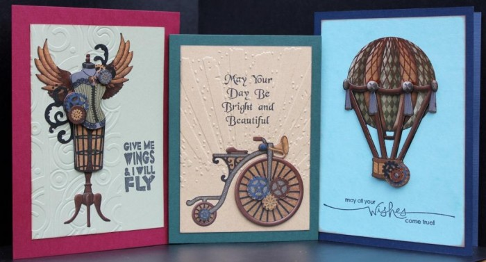 Steampunk Paper Tole Cards